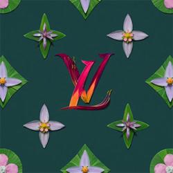 时尚品牌logo掉进花花世界!井上罗来的花瓣DIY