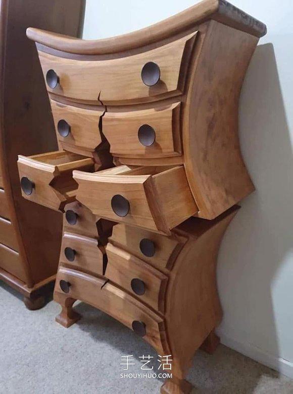 """像是卡通的木工工艺品,惊人的""""残破""""家具 -  www.shouyihuo.com"""