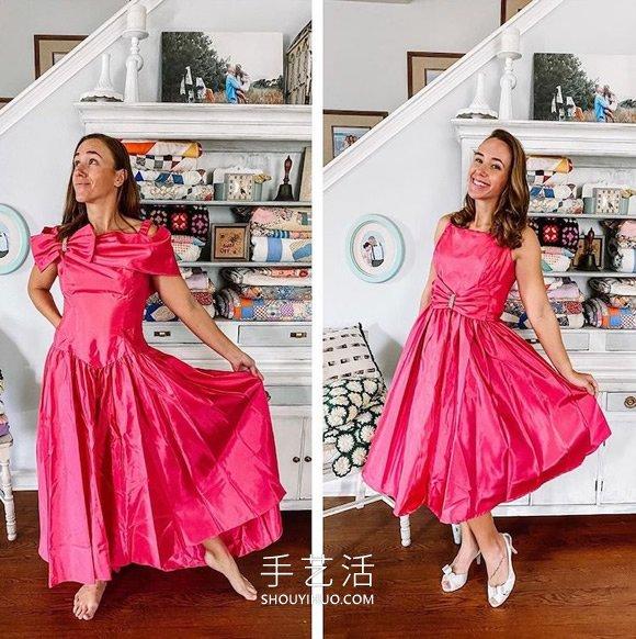 她将过时的旧货店礼服改造成时髦的连衣裙 -  www.shouyihuo.com