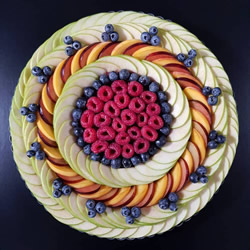 复杂图案的蛋糕皮设计,烘烤前后都很美丽!