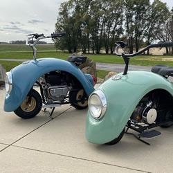 大众甲壳虫汽车DIY改造成迷你摩托车