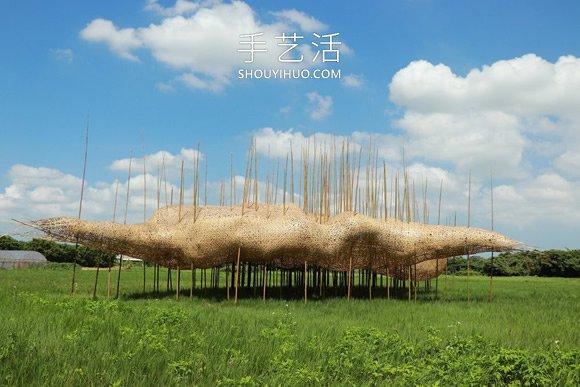 巨型竹�♀�b置!地面上的①�D�v�廊、秘境屋亭 -  www.shouyihuo.com