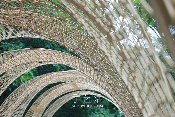 巨型竹��b置!地面上的�D◆�v�廊、秘境屋亭 -  www.shouyihuo.com