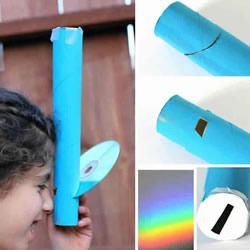 自制光谱仪!简单的纸巾卷筒科学小制作