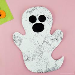 万圣节海绵涂色幽灵手工制作教程