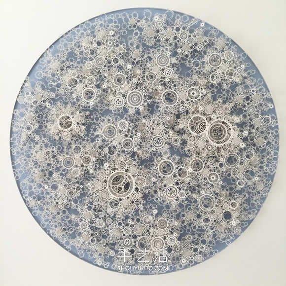 手工切割的模仿微生物的错综复杂的纸质雕塑 -  www.shouyihuo.com