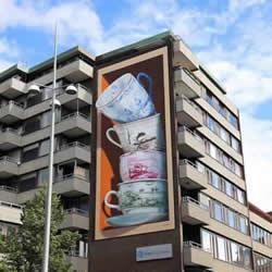 �u�u欲��的梦孤心茶杯,寓意生活的��意3D壁��