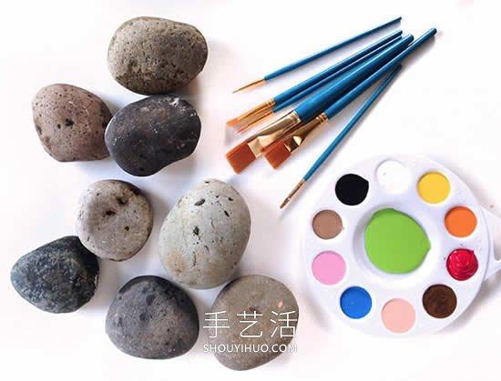 可爱的石头画怎么画简单教程 -  www.shouyihuo.com