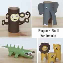 卷纸筒动物手工制作图片教程