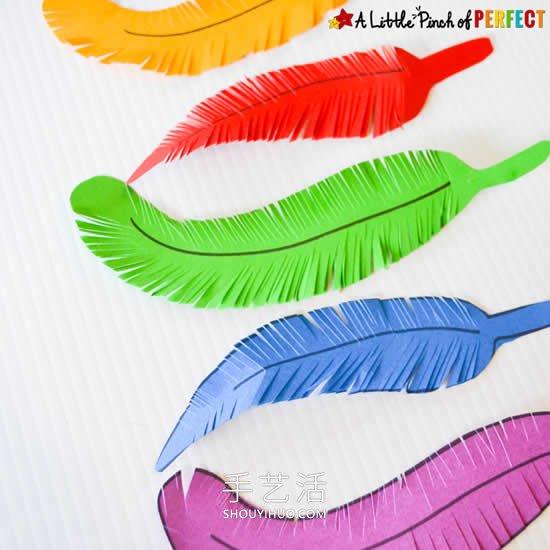 卡纸羽毛的做法手工制作图片 -  www.shouyihuo.com