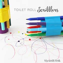 幼儿手工制作卷纸筒涂鸦器的做法教程
