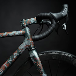 超精致手绘东洋风格自行车Scalatore Samurai!