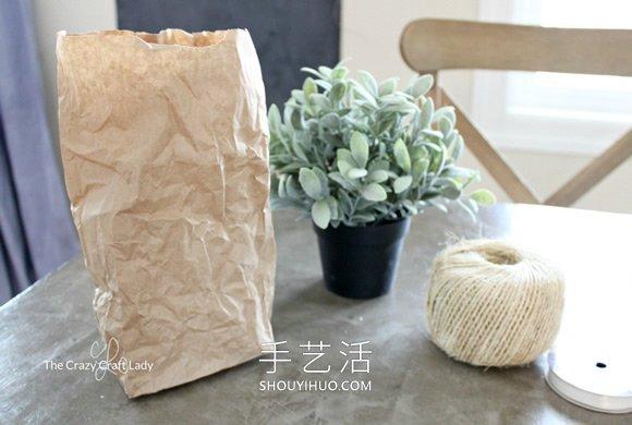 使用牛皮�袋子制作用於室�染G化的�花盆 -  www.shouyihuo.com
