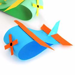 卡纸飞机手工制作图解步骤简单