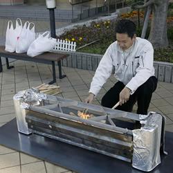 日本炉灶长椅!掀起椅面变成炉灶的防灾设计