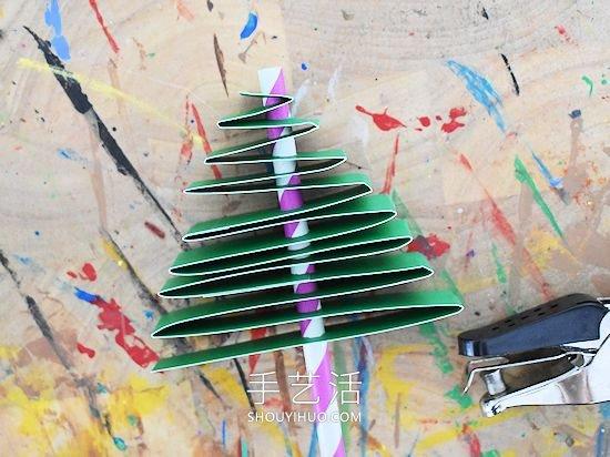简单卡纸圣诞树的手工制作教程 -  www.shouyihuo.com