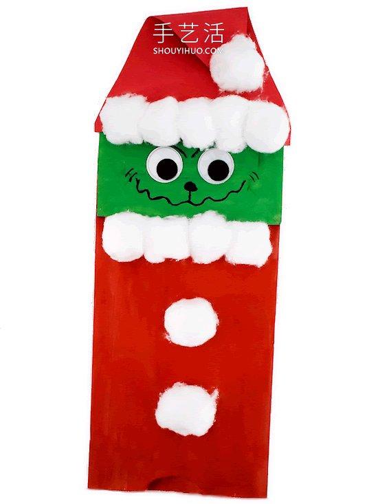 圣诞节绿毛怪格林奇手工制作教程 -  www.shouyihuo.com
