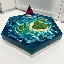 有创意的面包店制作看起来像天堂岛的蛋糕!
