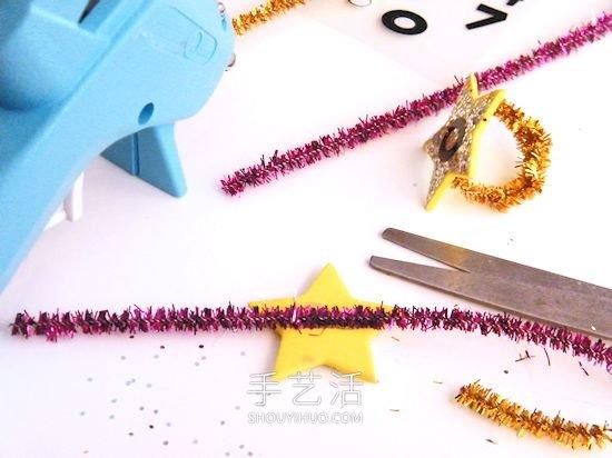 儿童手工制作迎新年元旦闪光戒指的做法 -  www.shouyihuo.com