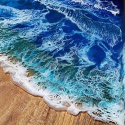 用木材和树脂DIY呈现海洋之美的艺术品