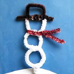 扭扭棒手工制作雪人的做法教程