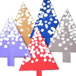 幼儿园手工制作被雪覆盖的树木