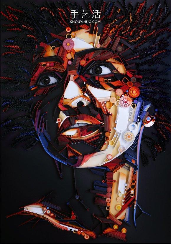 印象派风格的衍纸人物肖像作品图片 -  www.shouyihuo.com